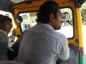 Angry rickshaw driver