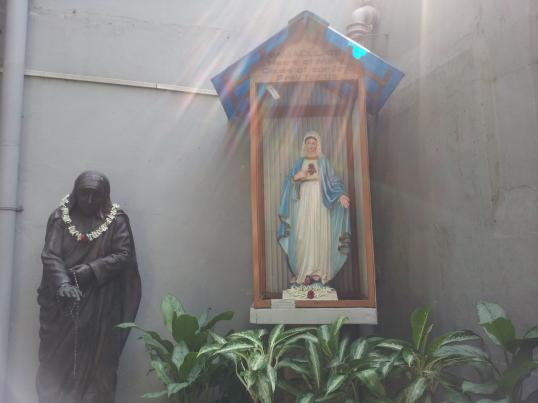 A shrine in Mother Teresa's house