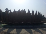 A pandal made out of boats