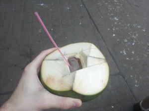 Coconut cup with Coconut juice
