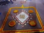 Diwali decoration near a pandal