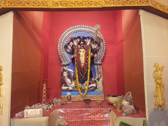 Kali (a form of Durga Maa) standing on Lord Shiva