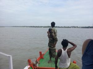 Ferry near Sundarbans National Park