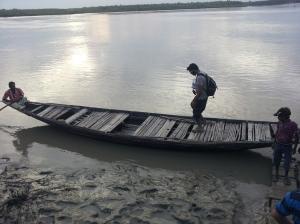 Boat ride near the Eco-village
