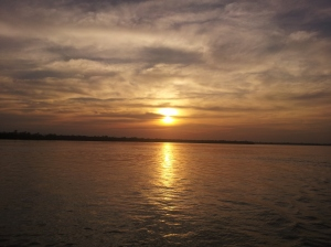 Sunset at Sundarbans National Park