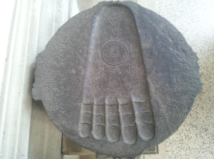 Buddha's foot at Indian Museum