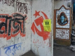 Hammer and Sickle near the National Library in Kolkata