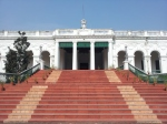 The front of the old building of the National Library of India