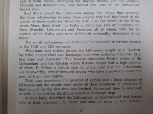 "The personality of a Lithuanian as described in the book ""Lithuania: The Land of Niemen"""