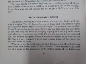 "Mention of the Gediminas' Tower in the book ""Lithuania: The Land of Niemen"""