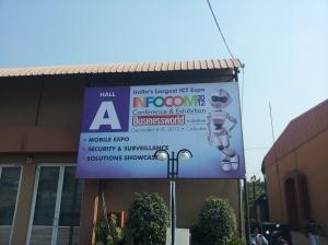 Hall A of INFOCOM 2012 in Kolkata