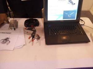 A remote insectoid with a camera at INFOCOM 2012 in Kolkata