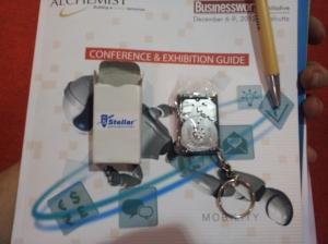 Stellar hard drive at INFOTECH 2012 in Kolkata
