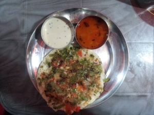 Uttapam with Coconut Chutney and Sambar at Barcode in Kolkata