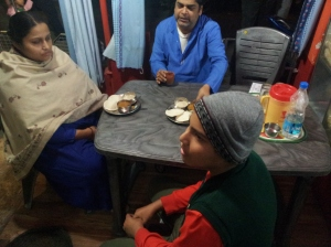 A family having Idlies for dinner at Barcode in Kolkata