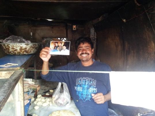 Subir getting his Christmas Present on Christmas of 2012