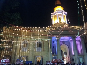 A church on Park Street during Christmas of 2012 in Kolkata