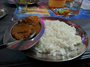 Home-made mutton with rice