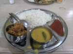 Probably the best rice + subzi + daal + chutney in Kolkata