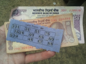 Lottery at a picnic