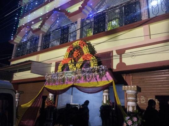 A Bengali wedding entrance