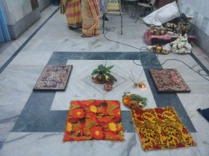 A place for a Bengali wedding ritual