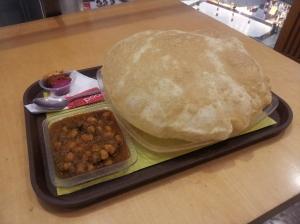 A Bathura at South City Mall food court