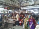 Inside Sealdah train station in Kolkata