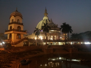 Srila Prabhupada's Pushpa Samadhi at night