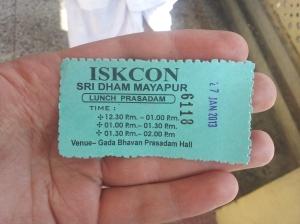 ISKCON lunch voucher
