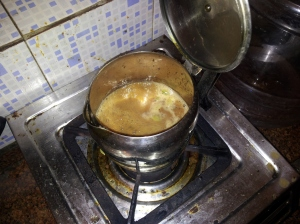 The process of brewing Chai